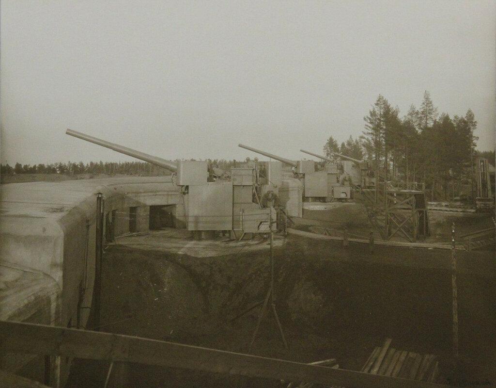 1914. Форт «Красная Горка», Батарея 305-мм орудий