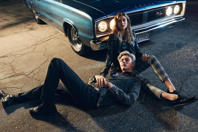 Хейли Болдуин и Лаки Блу Смит для рекламной кампании Tommy Hilfiger Denim