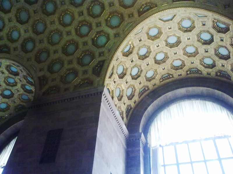 Commerce  Court  North, потолки  в  зале  первого  этажа.