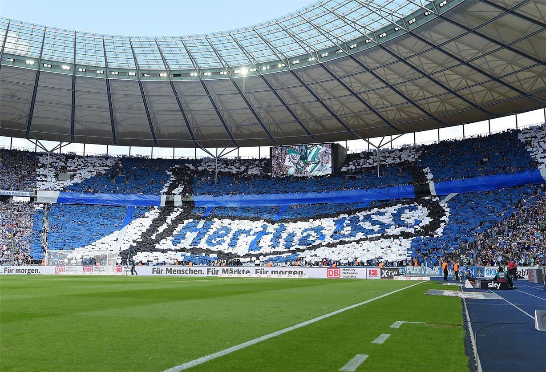 Soccer tifos / Гигантские баннеры футбольных болельщиков со со стадионов по всему миру - Hertha BSC