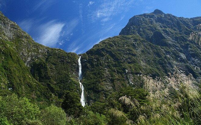 Водопад Сазерленд. Новая Зеландия
