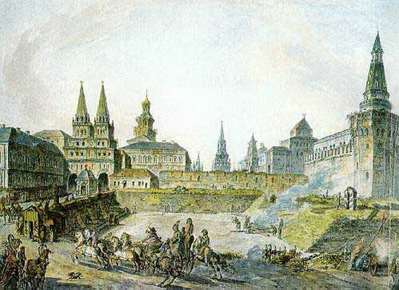 Вид Воскресенских ворот Китай-города, Никольских ворот Кремля и Неглинного моста.jpg