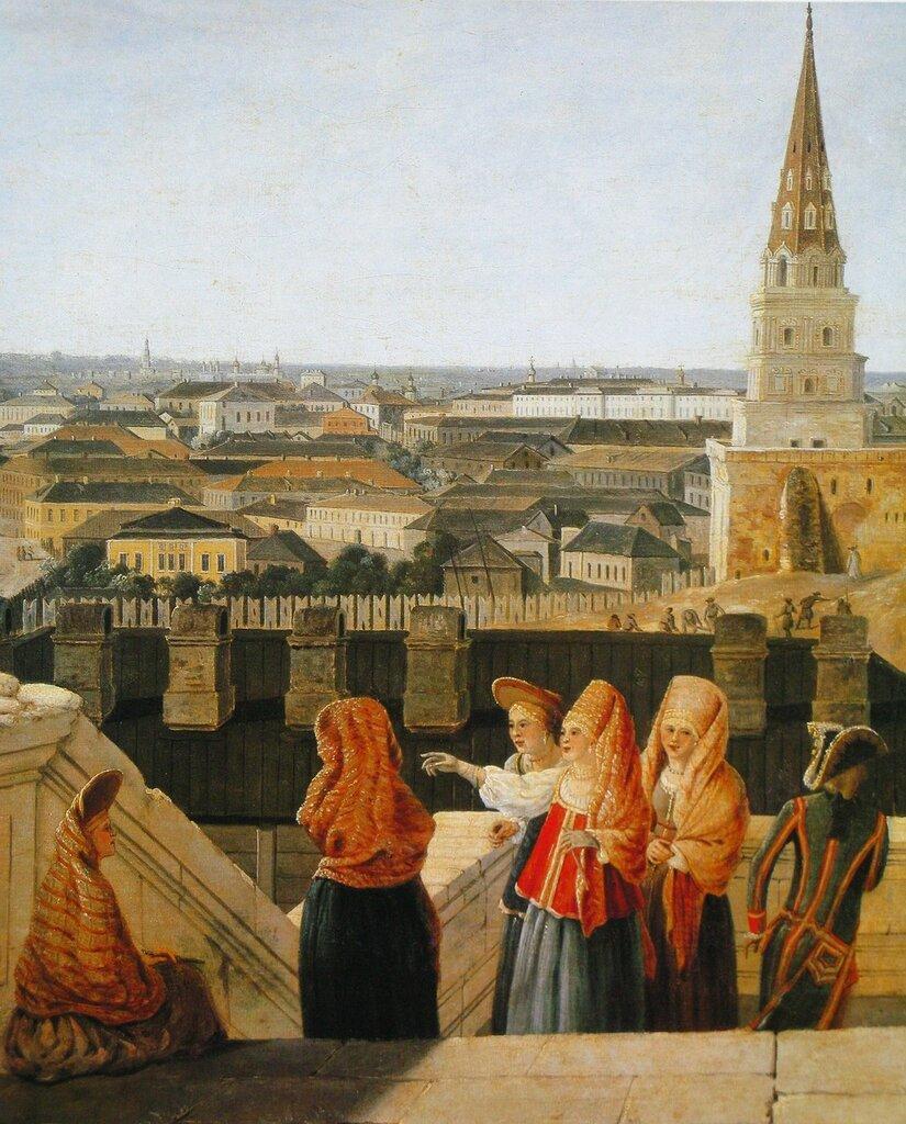 453711 Вид Москвы с балкона Императорского дворца, снятый по правую сторону Ж. Делабарт 1797.jpg