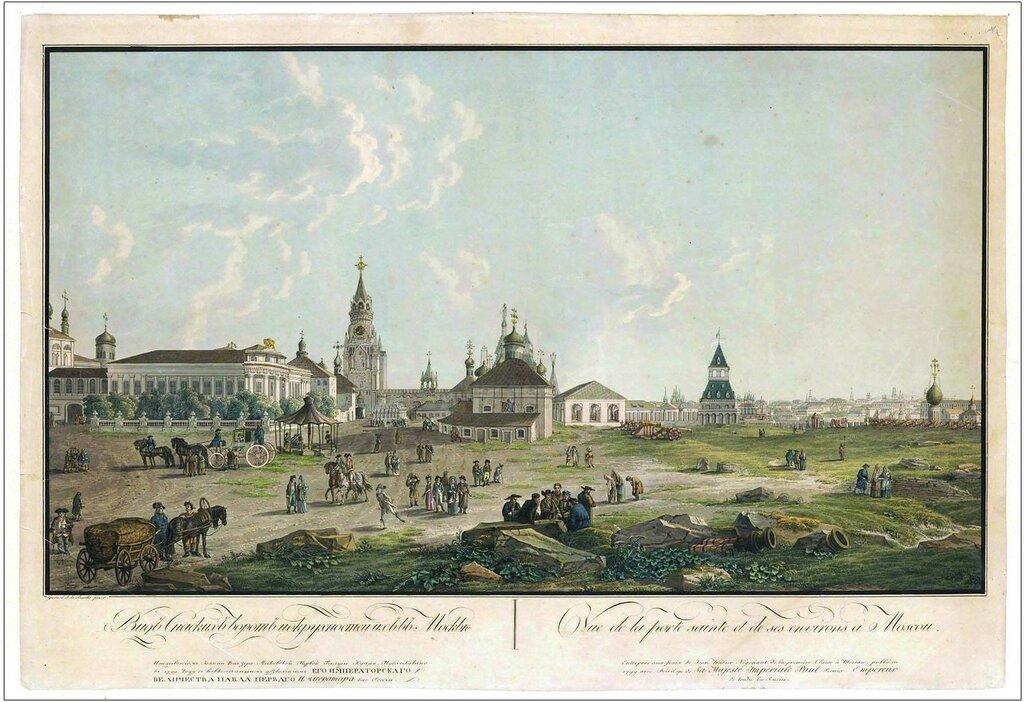 461916 Вид Спасских ворот и их окружностей в Москве Жерар Делабарт 1799.jpg