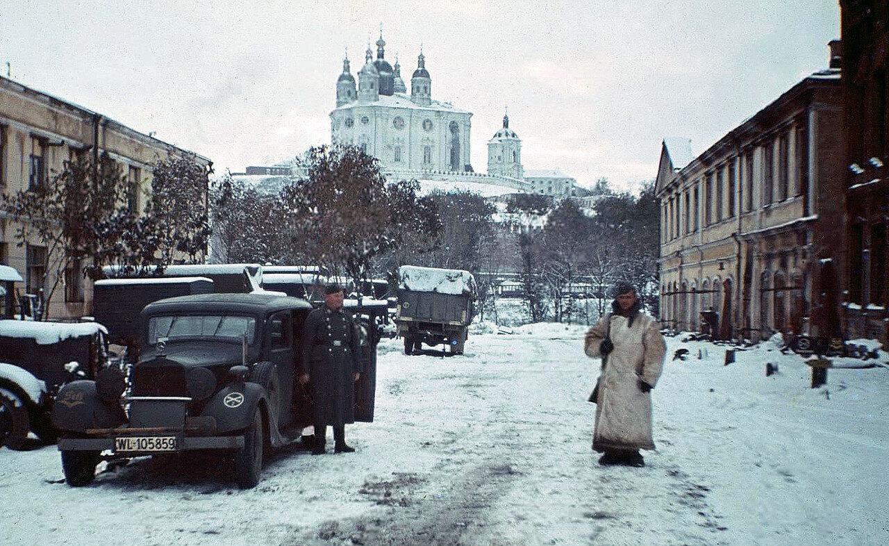 1942 Вид на Соборную гору с Рыночной площади