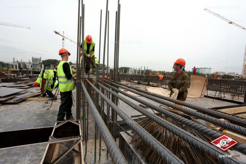 Строительство стадиона «Спартак» июнь 2012 (Фото)