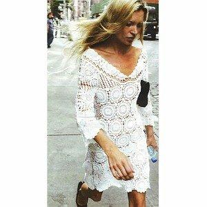Ананасы + Зефир = Белое платье Кейт Мосс Наши воплощения