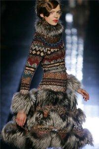 Жаккардовое платье от Jean Paul Gaultier