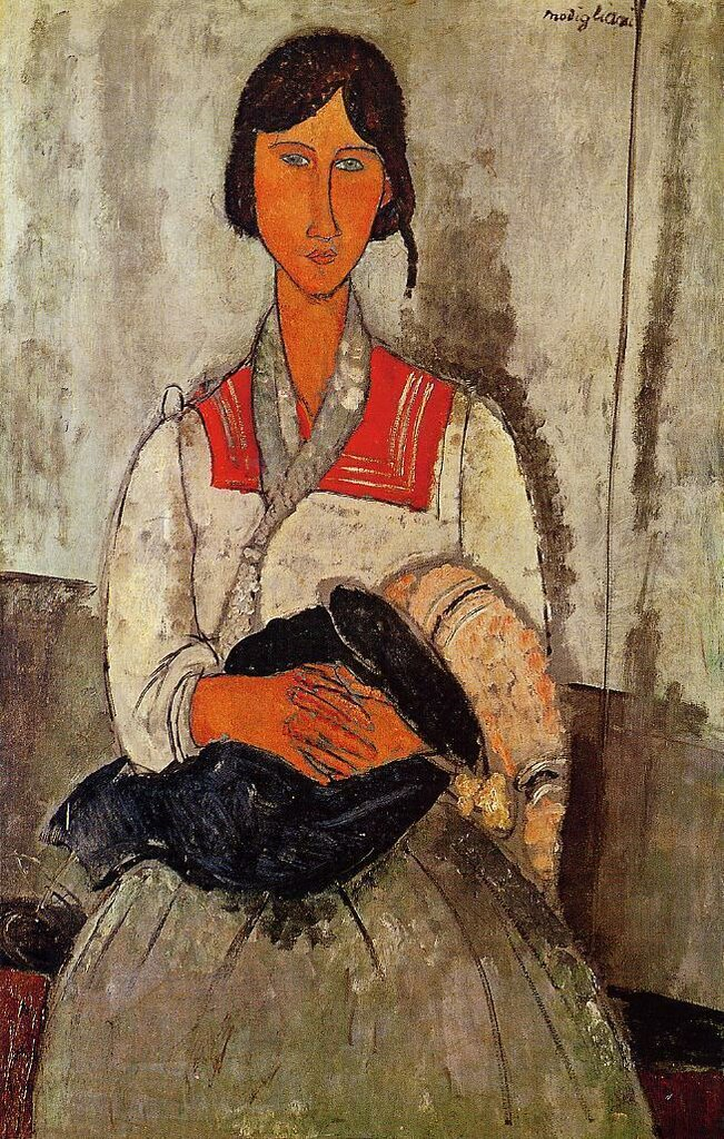 Gypsy Woman with Baby - 1918 - National Gallery of Art - Washington (USA) - oil on canvas - Height 115.9 cm (45.63 in), Width 73 cm (28.74 in).jpeg