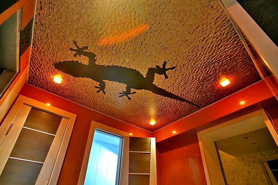 потолок, натяжное