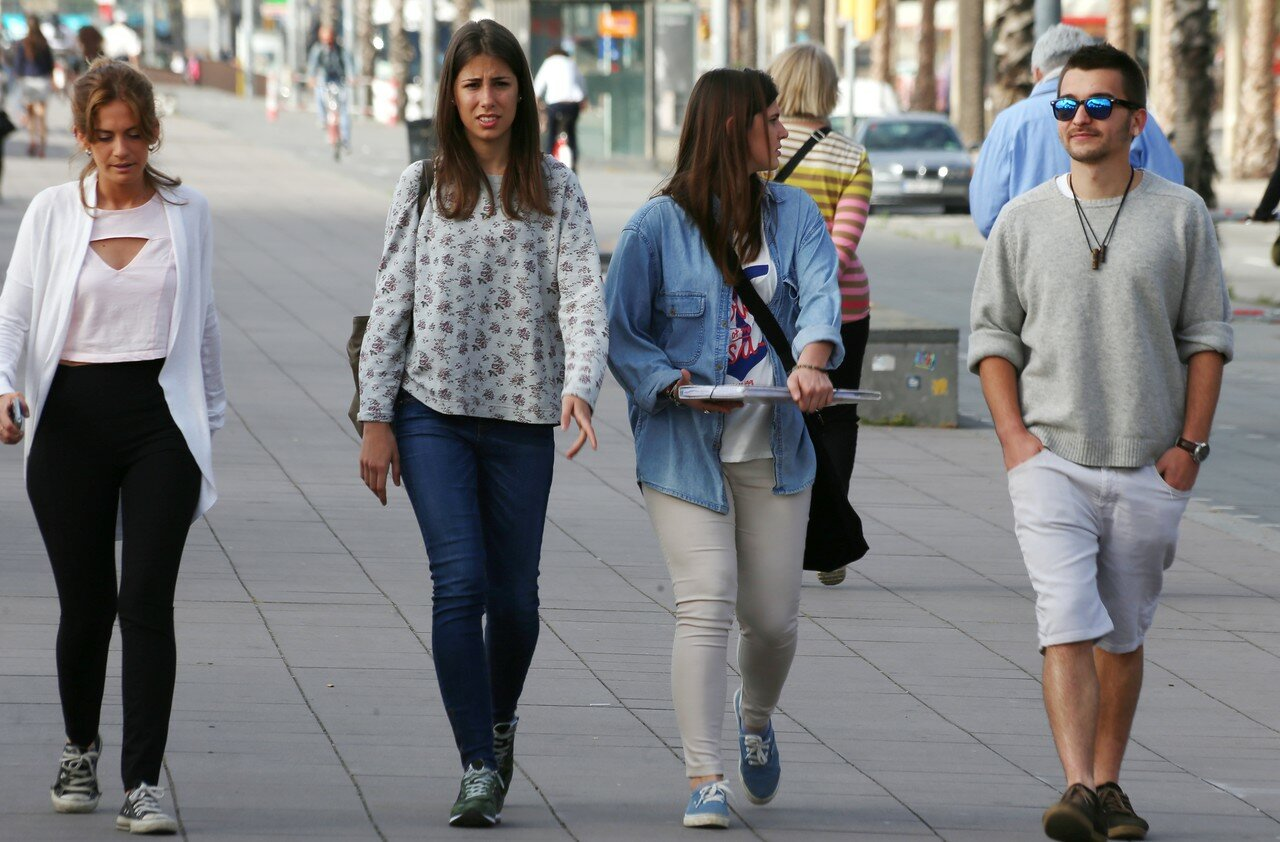 Barcelona. Columbus Boulevard (Passeig de Colom)