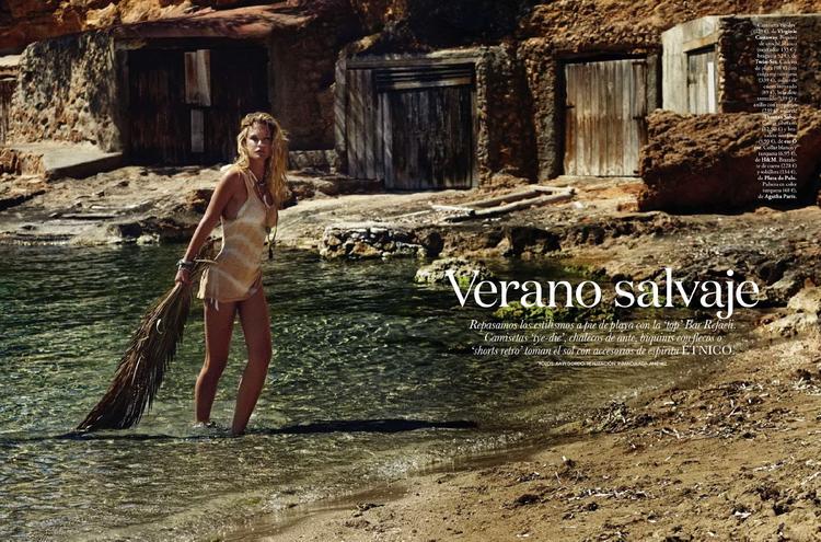 Бар Рафаэли в июньском Elle Spain 2014