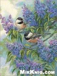 Журнал Dimensions 35258 Chickadees and Lilacs
