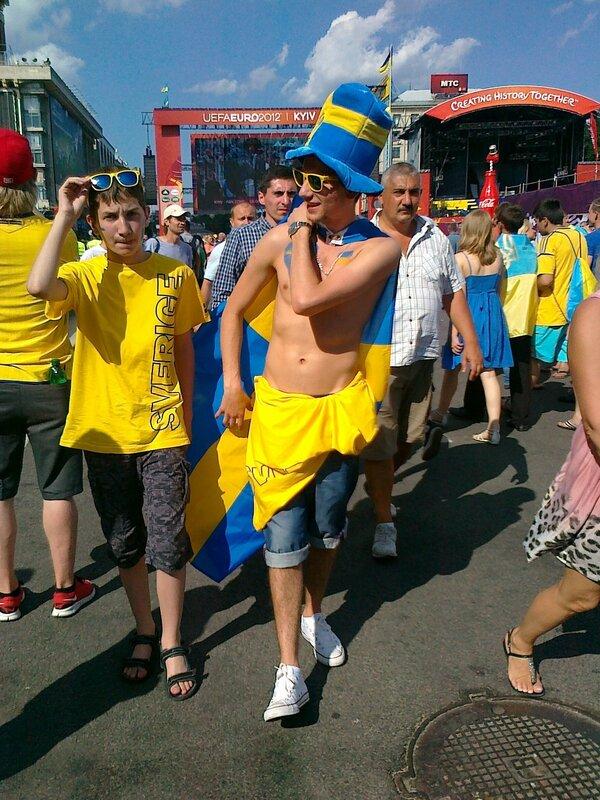 Шведские фаны Евро 2012