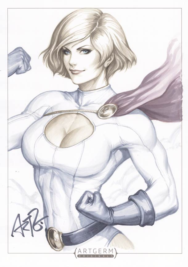 Pin-Up et Super Heroines - 21 illustrations de Artgerm