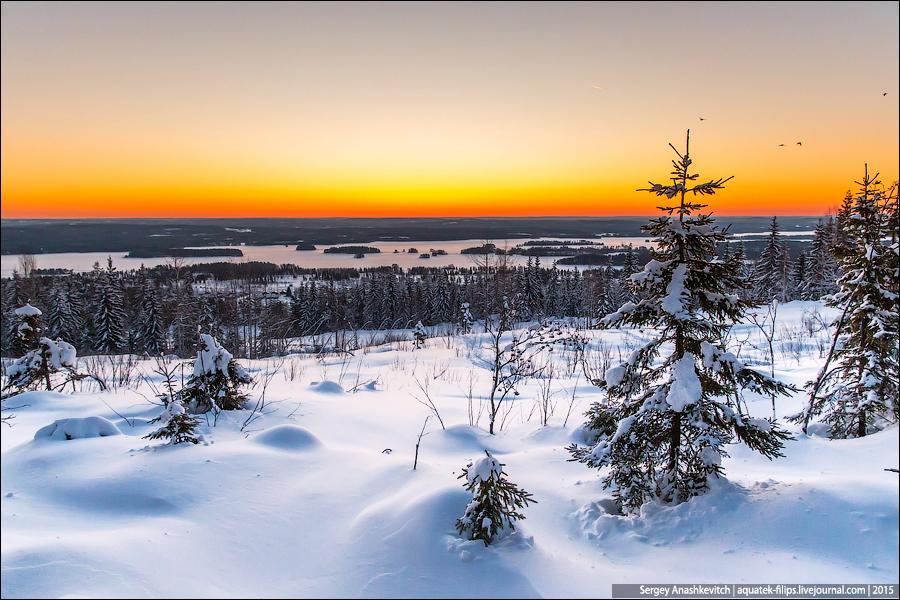 Рассвет в Финляндии