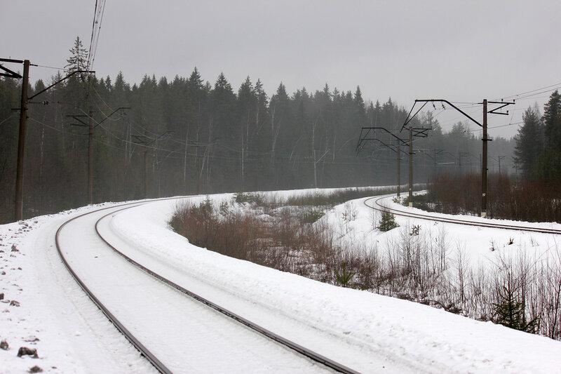 Ждём поезд перегоне Орехово - Васкелово