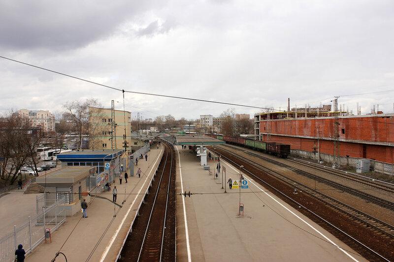 Платформа в Тушино, вид на Волоколамск