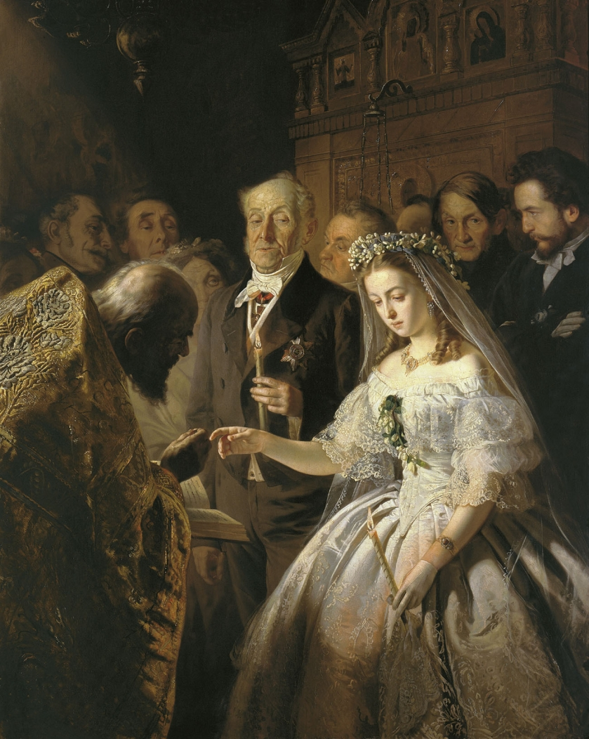 Неравный брак, 1862 - Василий Пукирев
