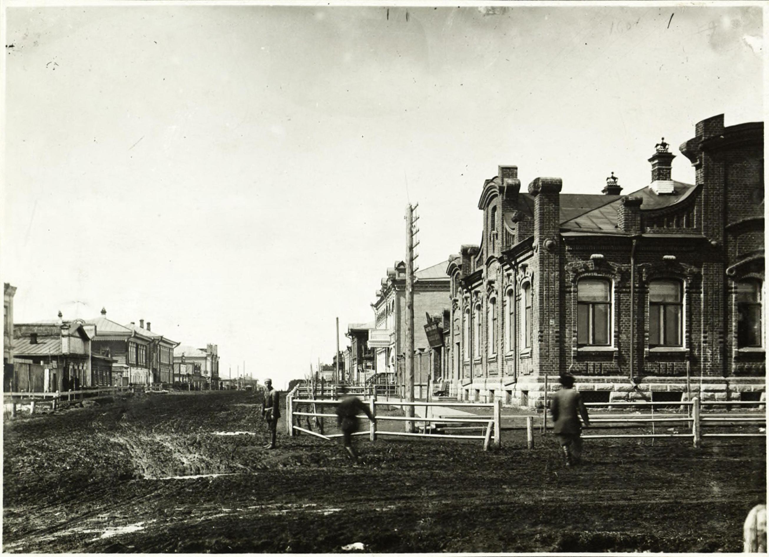 Вид от Александровской улицы в сторону Николаевского проспекта
