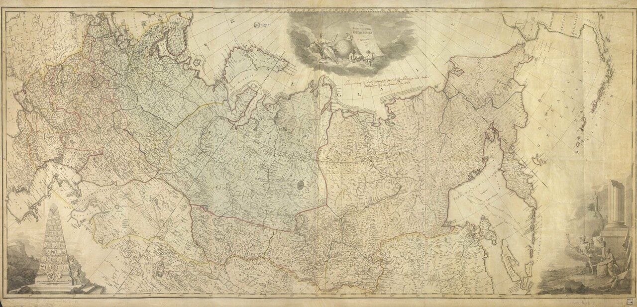1787. Карта Российской империи