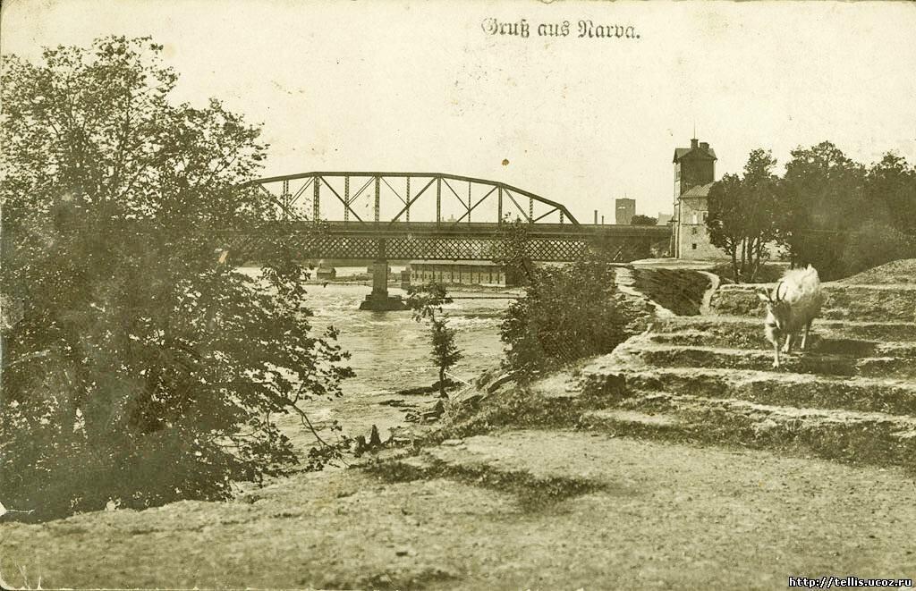 Вид на железнодорожные мосты