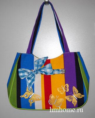 как украсить сумку цветами.