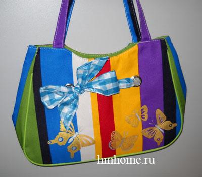 Роспись и декор пляжной сумки МОЙ.