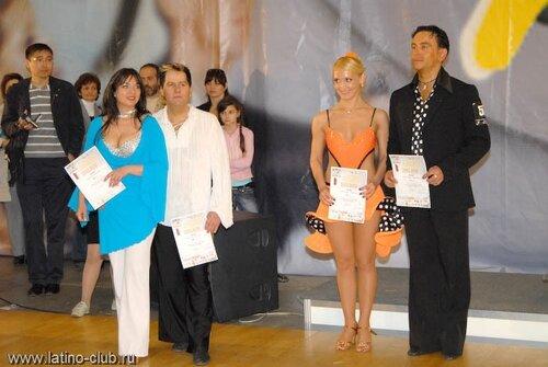 Награждение членов Латино-Клуба на Всемирной Танцевальной Олимпиаде в мае 2008 г