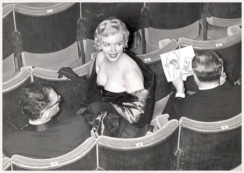 Marilyn Monroe и рисунок