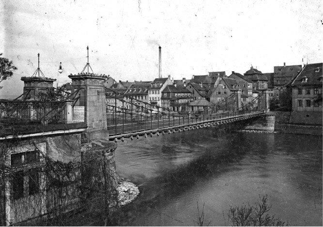 Bamberg. Ludwigs-Kettenbrücke (Chain Ludwig's bridge)