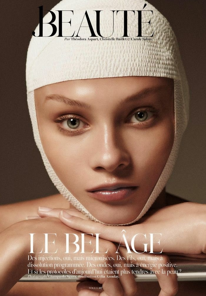 Анна Селезнева (Anna Selezneva) в журнале Vogue Paris (4 фото)