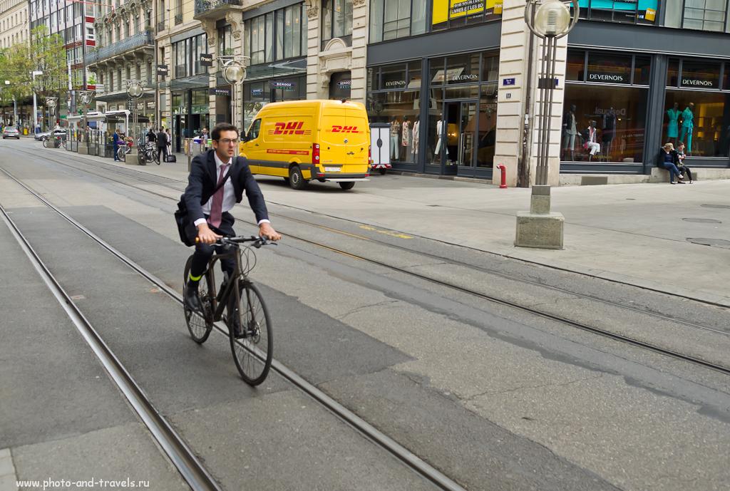 Фото 5. Прогулка по Женеве. Едь - потей...