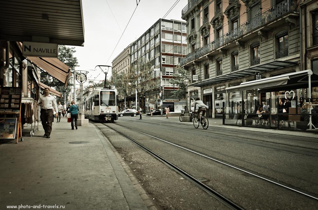 Фото 7. Отзывы о Швейцарии. Женевский трамвай