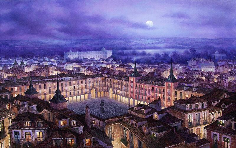 Ночь в Андалусии.  Художник Luis Romero