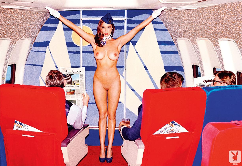 Air Playboy in Playboy USA may 2014 - Alyssa Arce, Marketa Janska, Pamela Horton, Val Keil by Tony Kelly
