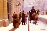 """La Sortie Du BourgeoisTranslated title: The Departure of the Bourgeois1889Oil on canvas53.3 x 37.5 cm(20.98"""" x 14.76"""")Private collection"""