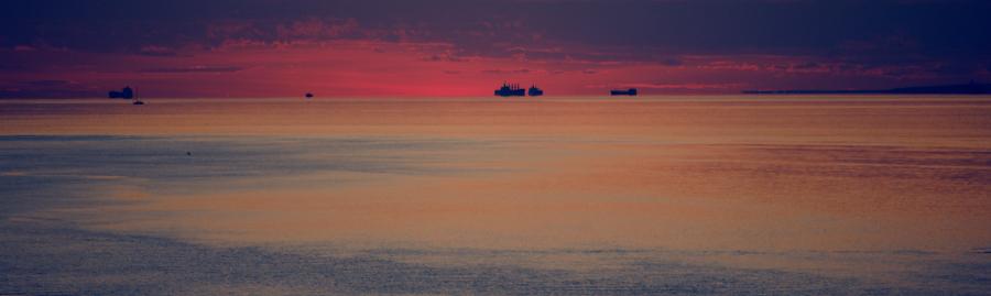 пурпурное закатное небо