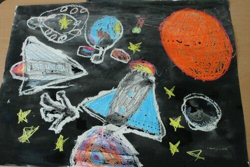 Уроки творчества рисуем космос