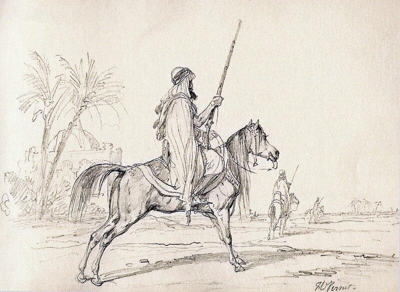 Рисунки карандашом всадников