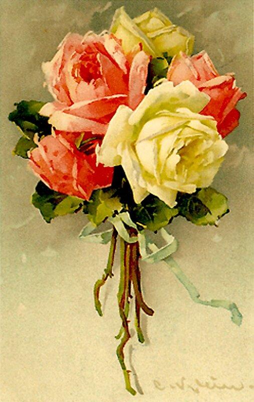 К. Кляйн. 8.  Букет роз.