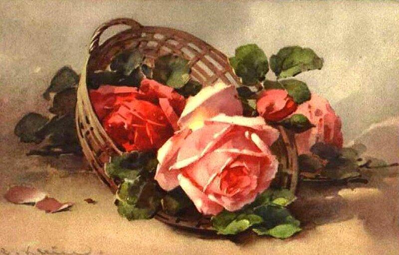 К. Кляйн. 61. Розы в корзине.