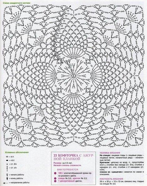 Схема вязания детского жилета крючком