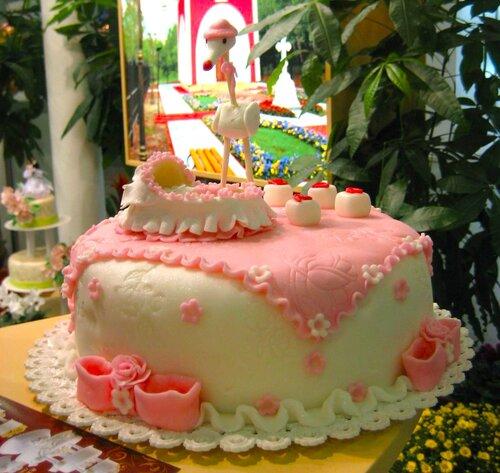 Торт-поздравление с новорождённым