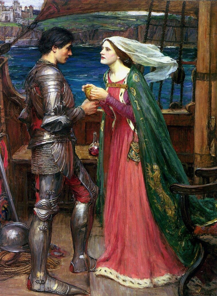 J.W. Waterhouse Tristan and Isolde Sharing the Potion 1905