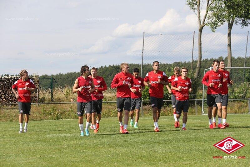 Вечерняя тренировка «Спартака» в Германии