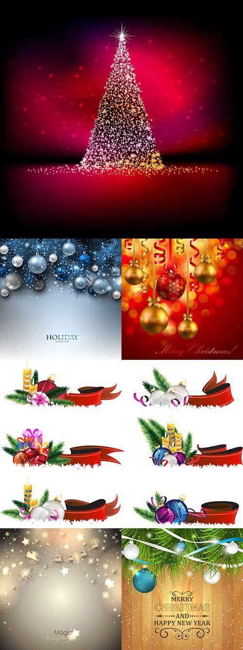 Новый год и Рождество - Фоны, элементы дизайна