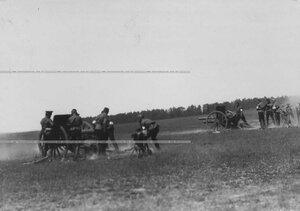 Учебная стрельба юнкеров-артиллеристов.