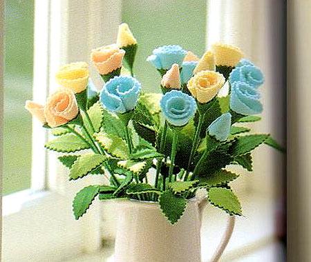 цветы из фетра своими руками