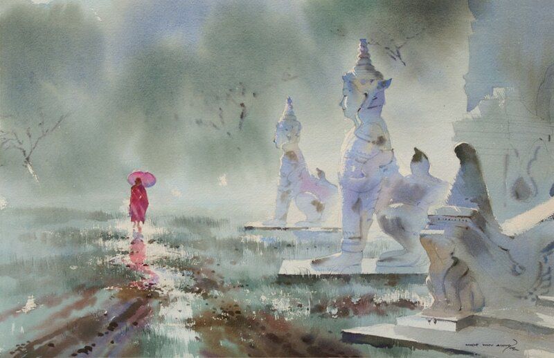 Художник Myoe Win Aung